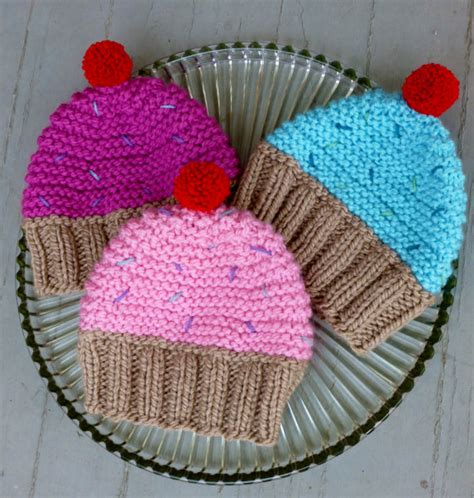 cupcake knitted hat pattern free instant cupcake hat knitting pattern knit cupcake