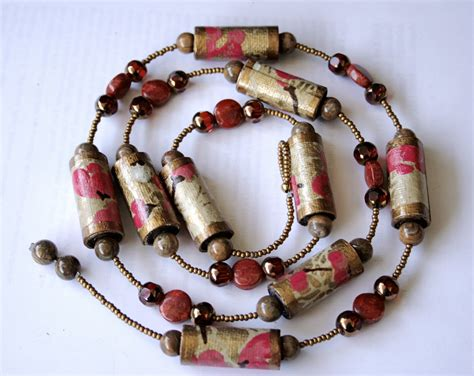 paper craft jewellery the poetic craft organic recycled jewelry paper necklace