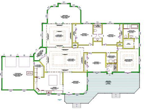 2 story open floor plans single story house plans single story open floor plans