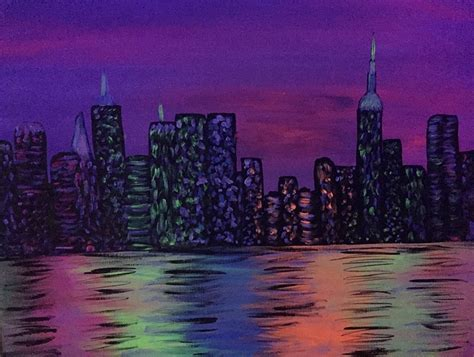 paint nite nyc march paint nite nyc nightlife glow in the