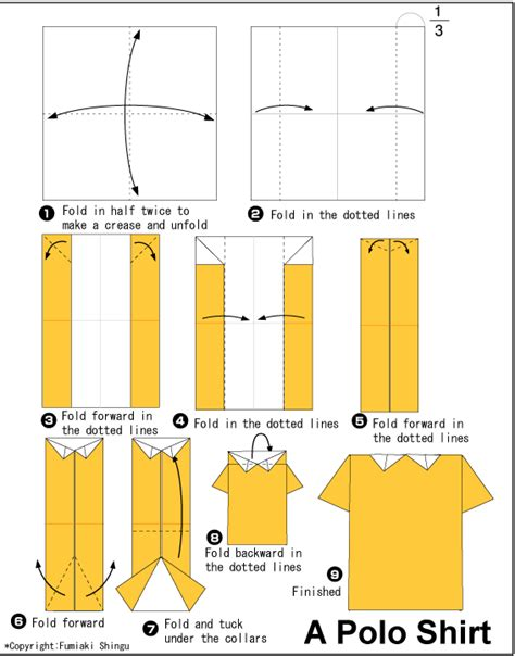 origami shirt folding origami one polo shirt papier