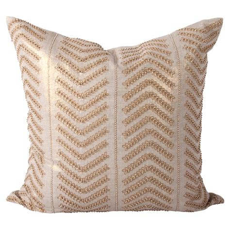 beaded decorative pillows cahaya global gold embroidered beaded decorative pillow
