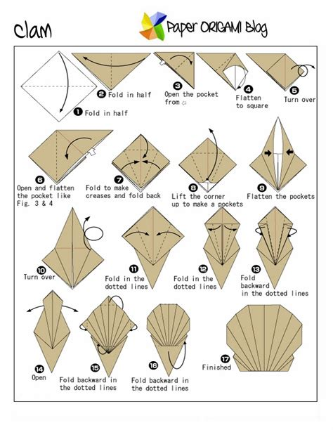 Sea Creature Origami A Clam Paper Origami Guide