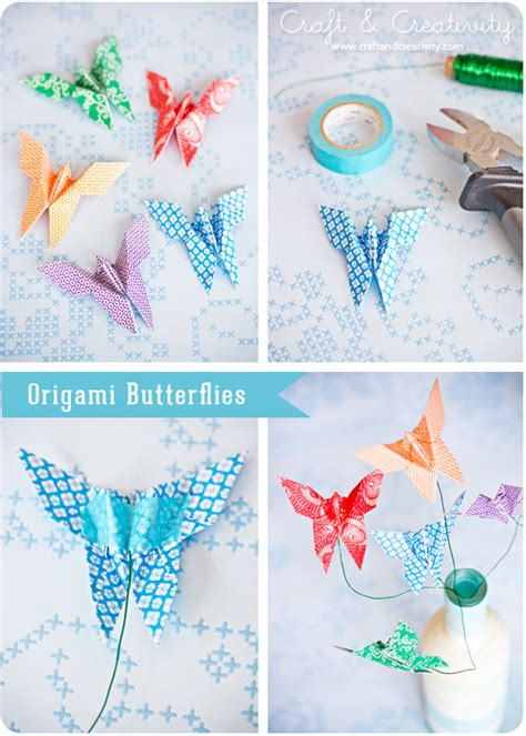 paper butterfly craft diy origami butterfly comot