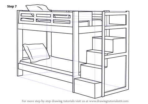 to bunk bed step by step how to draw a bunk bed drawingtutorials101