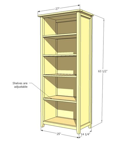 depth of bookshelves white channing bookcase diy projects