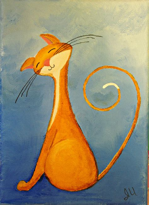 simple cat painting ideas cats painting them naturelands