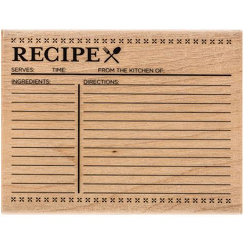 paper crafting recipe recipe card rubber st hobby lobby 1202365