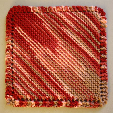 diagonal knit dishcloth diagonal square knit patterns knithaven