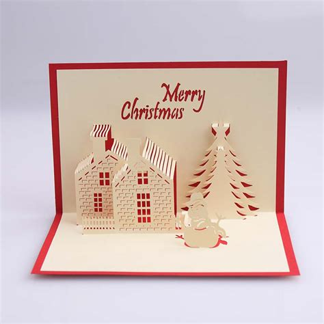 pop up greeting cards handmade creative kirigami origami 3d pop up greeting