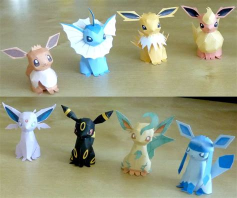 eevee origami papercraft eevee evolutions