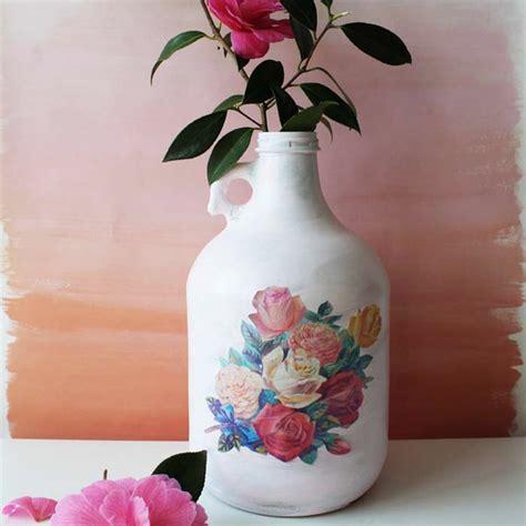 decoupage vase ideas using decoupage to beautify your empty bottles martha