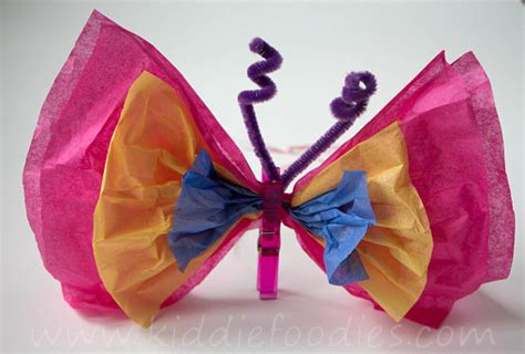 paper butterflies craft tissue paper butterfly diy craft ideas for kiddie