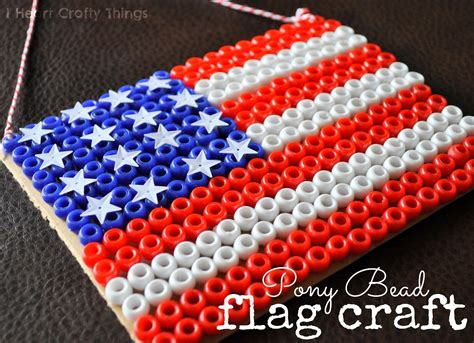 bead craft ideas pony bead flag craft i crafty things