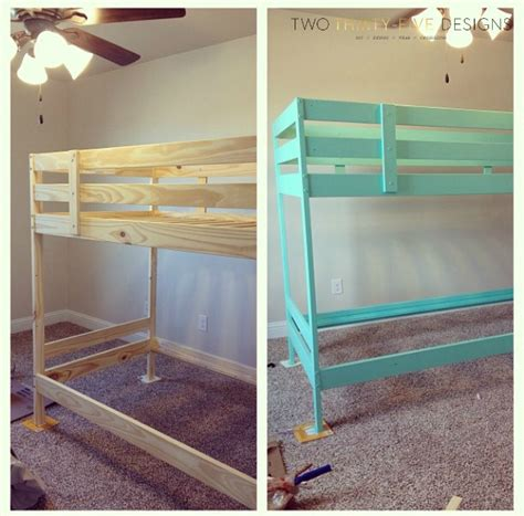 ikea hack bed ikea bunk bed hack two thirty five designs