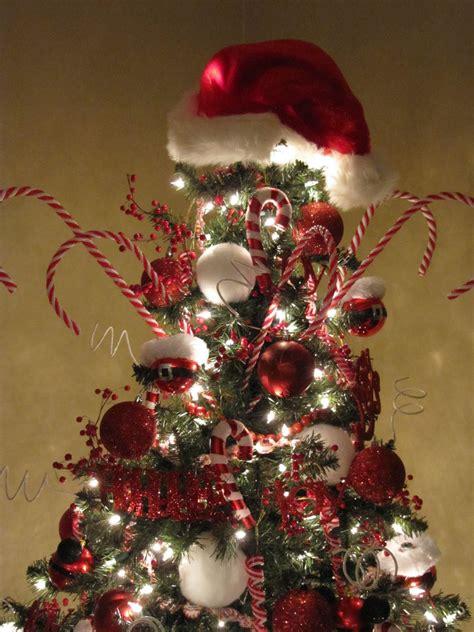 santa themed trees sew many ways santa claus tree