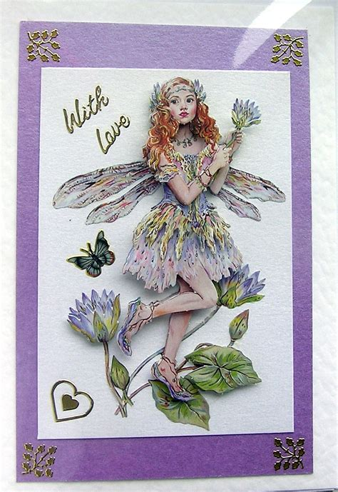 decoupage card crafted 3d decoupage card with 1459 on