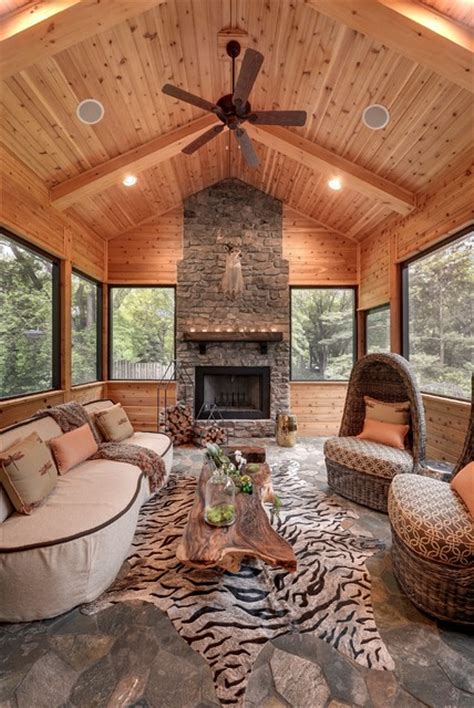 Kitchen Mantel Ideas house on the hill rustic sunroom minneapolis by