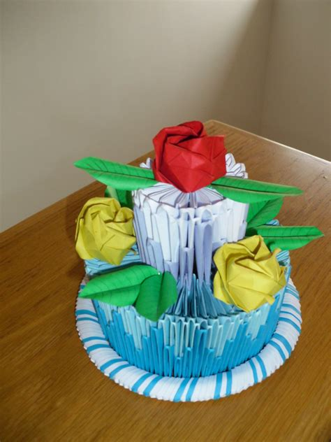 origami birthday cake 3d origami cake by justtree on deviantart