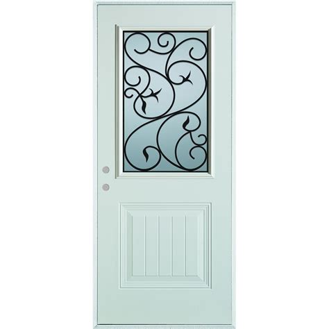 stanley glass doors stanley doors 32 in x 80 in silkscreened glass 1 2 lite