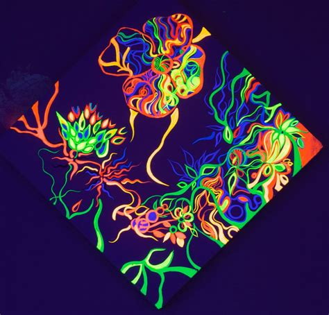 acrylic painting to light or light to buy flowers in neon light acrylic painting buy