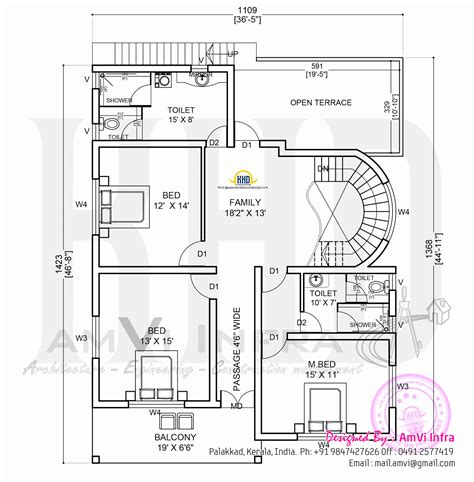 free house plans and designs elevation and free floor plan kerala home design and floor plans