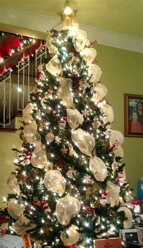 tree mesh decorating how to decorate a tree with deco mesh
