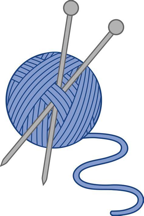knitting needles images blue yarn and knitting needles free clip