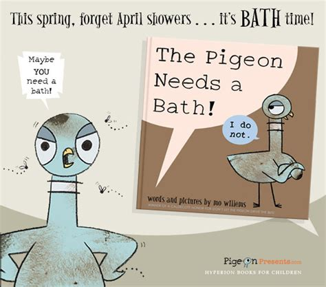 pigeon picture books the pigeon needs a bath by mo willems series giveaway