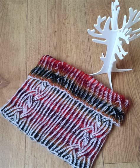 knitting brioche stitch in the variegated yarn knitting patterns in the loop knitting