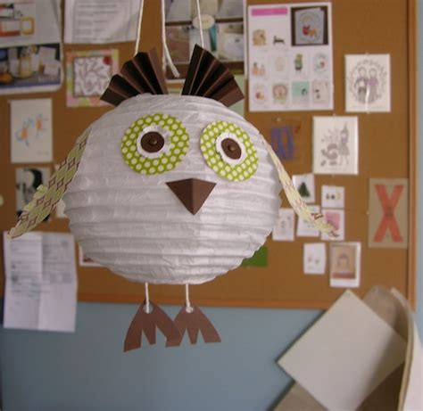paper lantern crafts stee crafts hoot paper lantern owl project