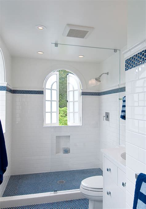 Bathroom Tiles Blue And White by White Subway Tile Bathroom Design Ideas