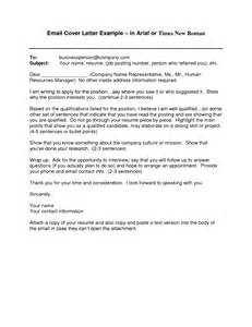 cover letter email sample template design