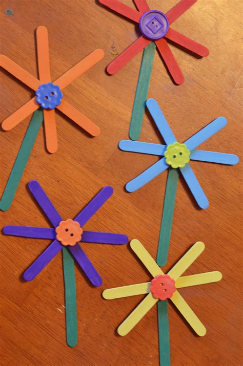 stick crafts for easy flower craft stick craft for surviving a