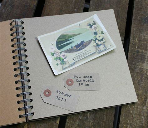 picture memory book personalised vintage map memory book by posh totty designs