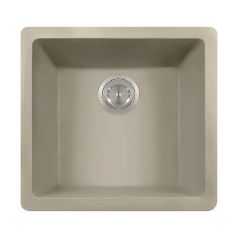 polaris sinks undermount granite 17 3 4 in single bowl