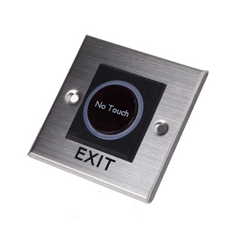 no sensor no touch sensor infrared exit button square with led