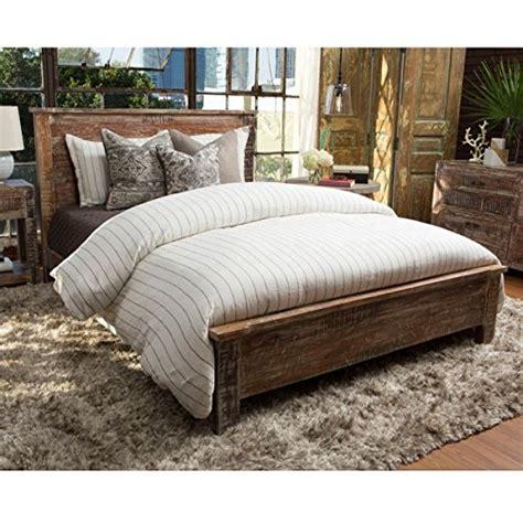 cal king wood bed frame reclaimed wood bed frame cal king driftwood furnitures