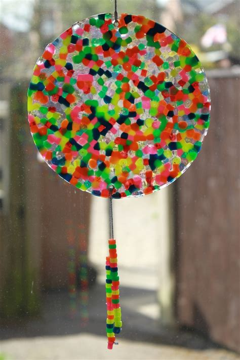 Melted Pony Bead Suncatcher Great Summer Project Must Try