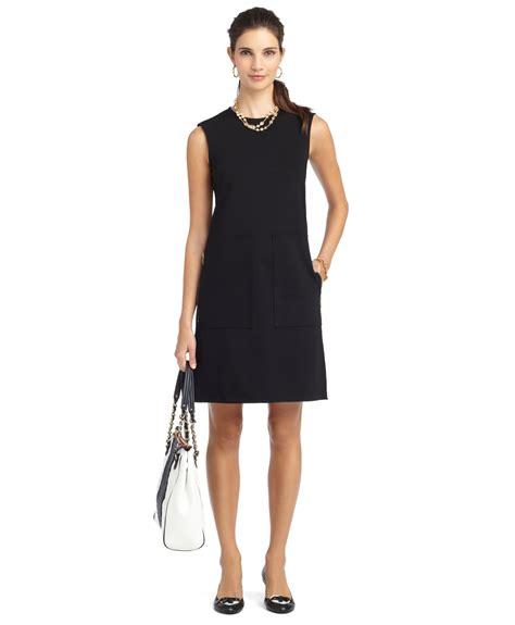 knit black dress brothers knit aline dress in black lyst