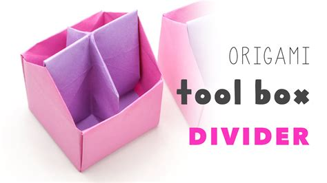 origami tool box origami tool box 4 section divider tutorial diy