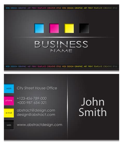 how to make front and back business cards in word modern business cards front and back template vector 05