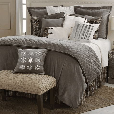 cable knit bedding rustic bedding silver mountain bedding collection black