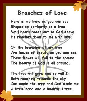 tree poems preschool handprint tree poem new calendar template site
