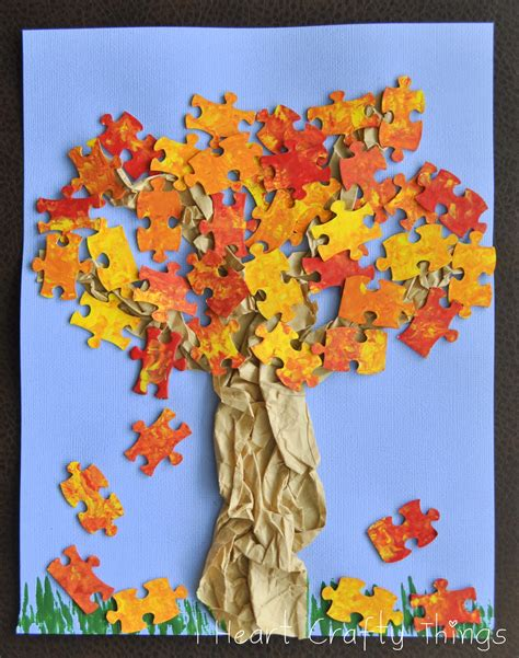 autumn arts and crafts for fall tree craft i crafty things
