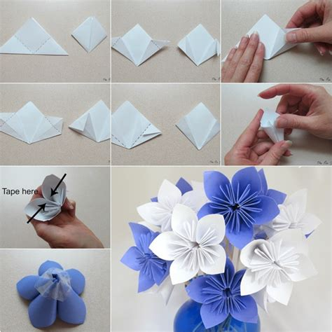 how to make a paper flower origami step by step diy origami paper flower bouquet howtoinstructions us