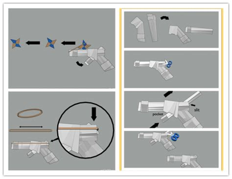 how to make a origami weapons paper pistol www pixshark images