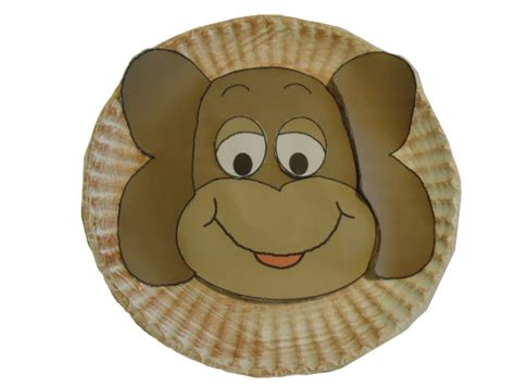 paper plate monkey craft church house collection monkey paper plate craft