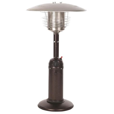 lowes patio heater shop sense 10 000 btu bronze steel tabletop liquid