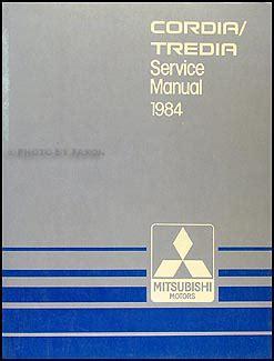 service manual automotive repair manual 1988 mitsubishi cordia instrument cluster service 1984 mitsubishi cordia and tredia repair shop manual original